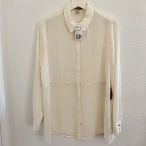 NWT Forever21 Button Down Tunic Blouse